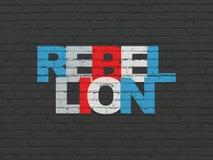 Concept politique : Rébellion sur le fond de mur illustration stock
