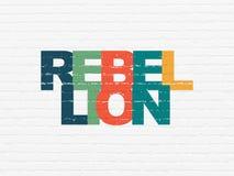 Concept politique : Rébellion sur le fond de mur illustration libre de droits