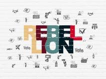 Concept politique : Rébellion sur le fond de mur illustration de vecteur
