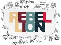 Concept politique : Rébellion sur le fond de papier déchiré illustration libre de droits