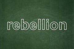 Concept politique : Rébellion sur le fond de tableau Photos libres de droits