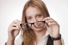 Concept: poor eyesight Royalty Free Stock Image