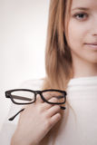 Concept: poor eyesight Royalty Free Stock Images