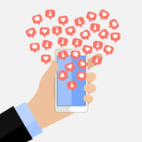 Concept of the popularity in social networking. Stock Photography