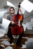 Concept portrait of a cellist Stock Image