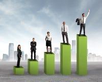 Teamwork statistics Stock Photography