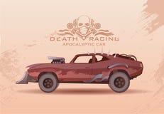 Concept post-Apocalypse car. Vector illustration. stock illustration