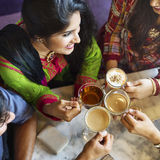 Concept potable de thé de café de coupure de café d'appartenance ethnique indienne Photo libre de droits