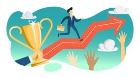 Concept potentiel personnel Idée de la formation et de la motivation illustration de vecteur