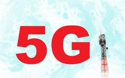 Concept pour 5G global Photographie stock libre de droits