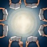 Concept pour l'étude de bible dans la famille ou dans la classe illustration de vecteur