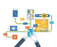 Concept pour l'analyse commerciale, consultant, planification de stratégie, gestion des projets Photo stock