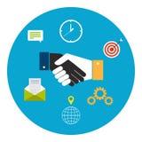 Concept pour la coopération d'affaires illustration de vecteur