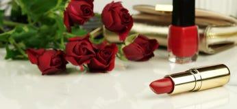Concept pour le jour du ` s de Valentine, femmes jour, jour du ` s de mère bureau féminin, espace de travail Photographie stock