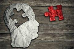 Concept principal de cerveau de puzzle Photographie stock libre de droits