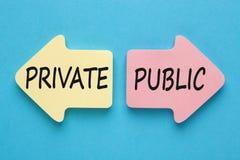 Concept privé et public photo stock