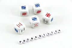 Concept of probability stock image