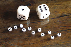 Concept of probability, number seven Stock Photos