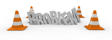 Concept of problem Stock Photo