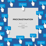Concept procrastination social media addiction Stock Images