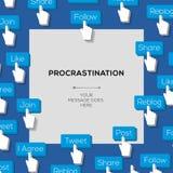 Concept procrastination social media addiction Stock Images