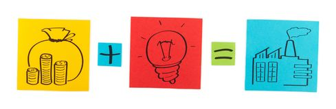 Concept of production start-up. Stock Photography