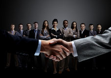 Concept of a professional business team and reliable partnership Royalty Free Stock Photo