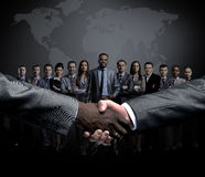 Concept of a professional business team and reliable partnership Royalty Free Stock Photos