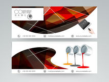 Concept of professional header or banner. Stock Photography