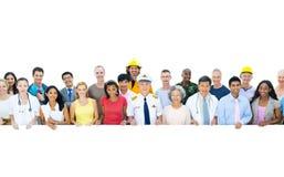 Concept professionnel d'unité de travailleurs de profession de diversité Photo stock