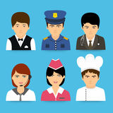 Concept of professions avatars. Stock Images