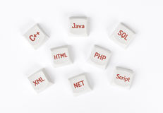 Concept of programming language Stock Image