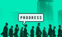 Concept progressif de développement de progression de progrès photos stock