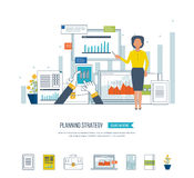 Concept for project management, investment,  finance, financial report, education. Stock Photography