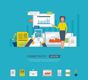 Concept for project management, investment,  finance, financial report, education. Stock Images
