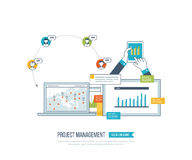 Concept for project management, investment,  finance, financial report, education. Concept for project and strategic management, investment, strategy planning Stock Images