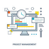 Concept of project management Stock Photo