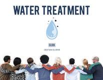 Concept propre de boue d'épuration de retrait de traitement de l'eau Image libre de droits
