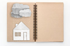 Concept of protecting the home from bad weather, rain or cold. Stock Image