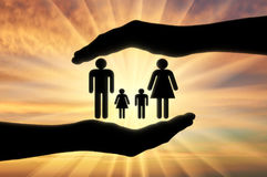Concept of protection of the family Stock Image