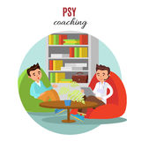 Concept psychologique coloré de formation Illustration de Vecteur