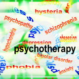 Concept psychotherapy background Royalty Free Stock Image
