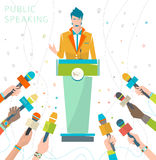 Concept of public speaking Stock Images