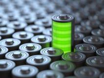 Concept, puissance et énergie de batterie illustration libre de droits