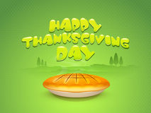 Concept of pumpkin pie for thanksgiving Day celebration. Stock Photography