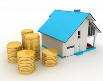 Concept of purchase of habitation Royalty Free Stock Images