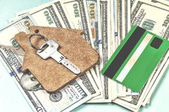 The purchase of housing on credit Stock Photography