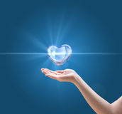 Concept of a pure and healthy heart. Royalty Free Stock Photo