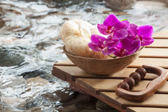 Concept of pure massage for inner beauty Royalty Free Stock Photo