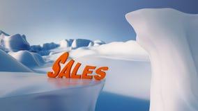 Concept q élevé de ventes de l'hiver de concept de ventes de l'hiver Photo libre de droits